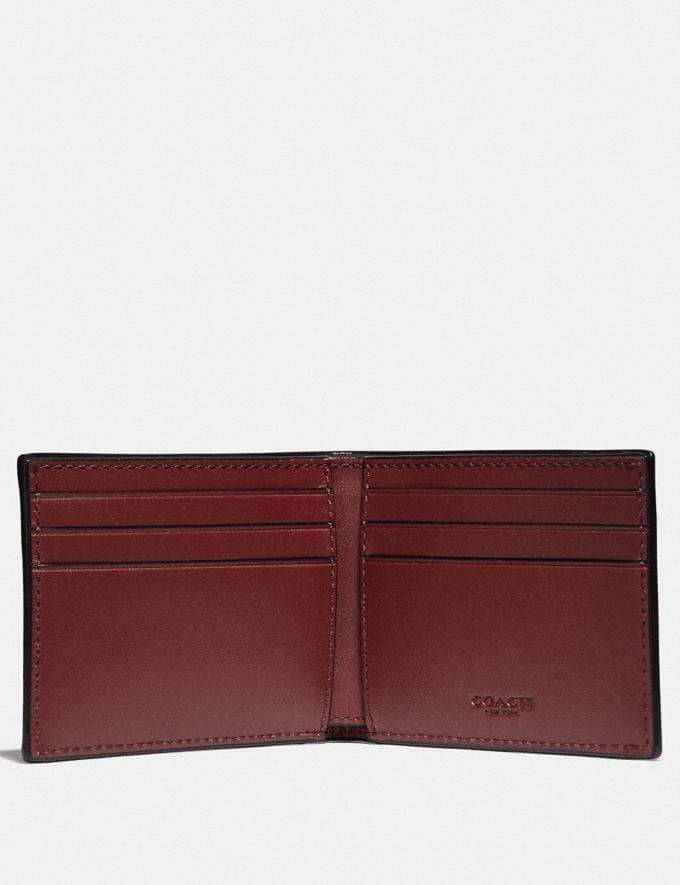 Coach Slim Billfold Wallet Red Currant New Featured Online Exclusives Alternate View 1