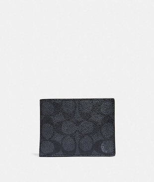 SLIM BILLFOLD WALLET IN SIGNATURE CANVAS