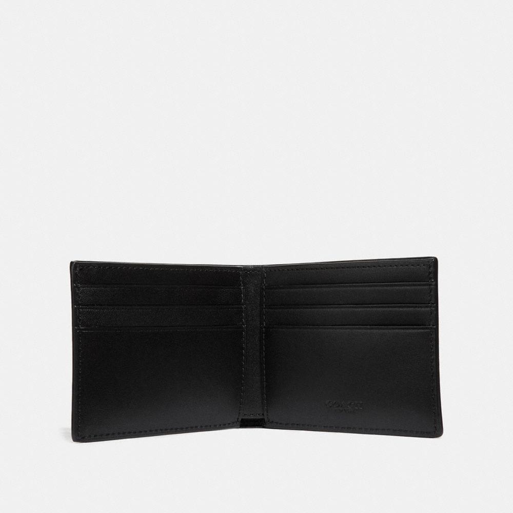 Coach Slim Billfold Wallet in Signature Canvas Alternate View 1