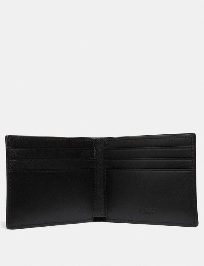 Coach Slim Billfold Wallet in Signature Canvas Charcoal New Men's New Arrivals Wallets Alternate View 1