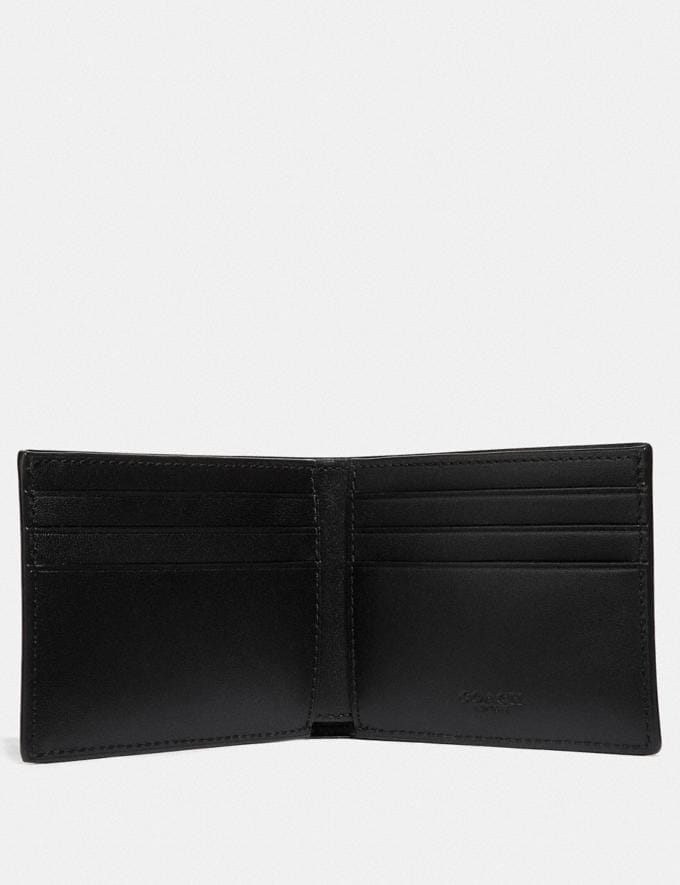Coach Slim Billfold Wallet in Signature Canvas Khaki New Men's New Arrivals View All Alternate View 1
