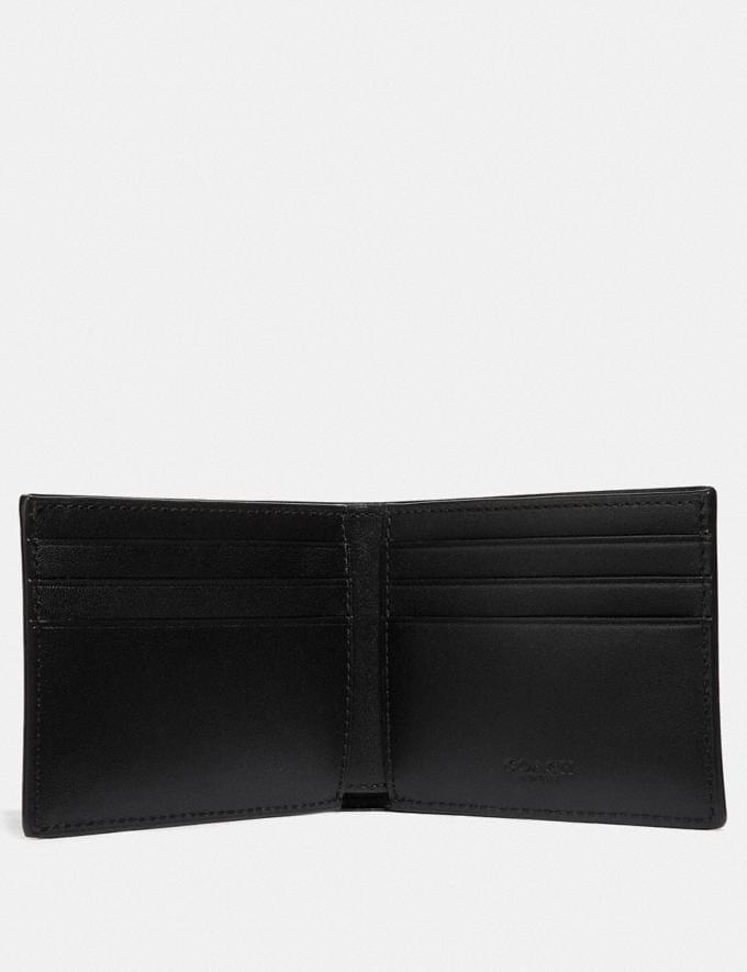 Coach Slim Billfold Wallet in Signature Canvas Khaki New Men's New Arrivals Wallets Alternate View 1