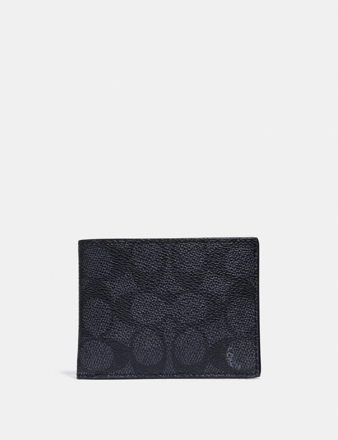 Coach Slim Billfold Wallet in Signature Canvas Midnight SALE 30% off Select Full-Price Styles Men's