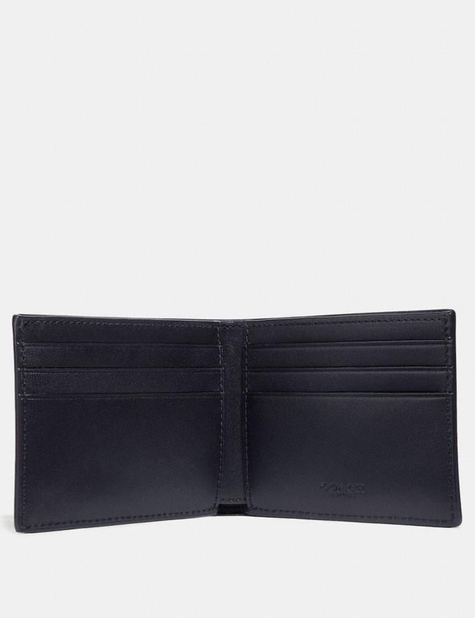 Coach Slim Billfold Wallet in Signature Canvas Midnight SALE 30% off Select Full-Price Styles Men's Alternate View 1