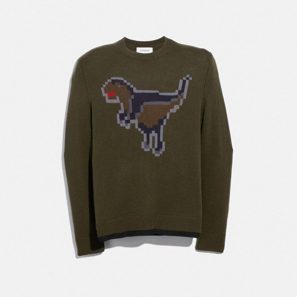 pixel rexy intarsia sweater