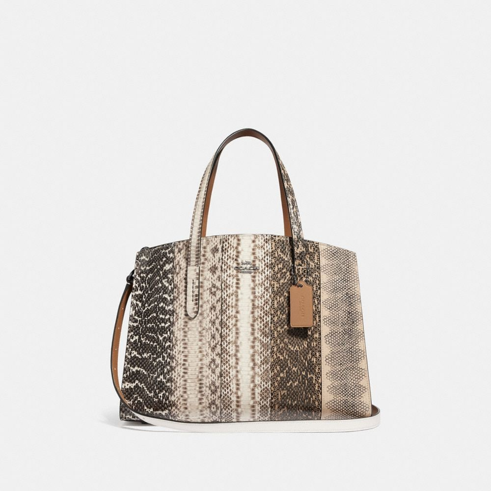 Coach Charlie Carryall in Ombre Snakeskin