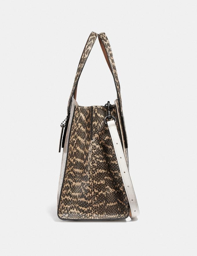Coach Charlie Carryall in Ombre Snakeskin Gunmetal/Natural Women Bags Satchels Alternate View 1