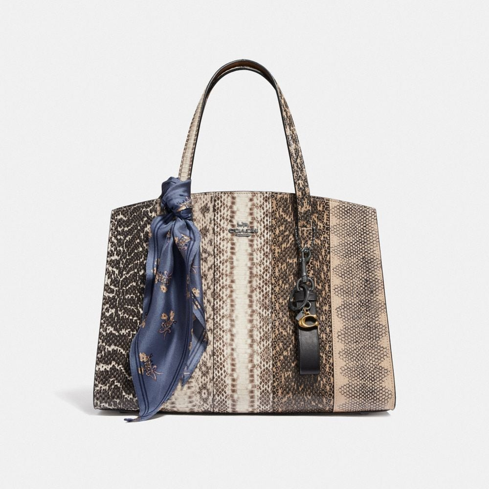 Coach Charlie Carryall in Ombre Snakeskin Alternate View 3