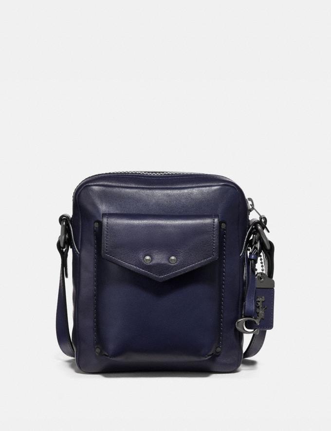 Coach Jaxson Bag 18 Cadet/Black Copper Men Bags Messenger Bags
