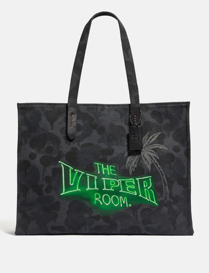 Coach Viper Room Tote 42 With Wild Beast Print Heather Grey Wild Beast/Black Copper New Men's New Arrivals View All