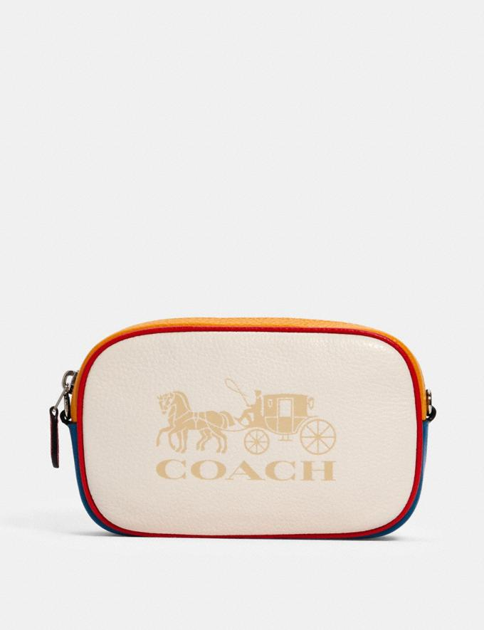 JES CONVERTIBLE BELT BAG IN COLORBLOCK WITH HORSE AND CARRIAGE