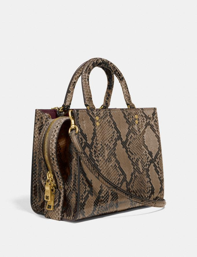 Coach Rogue 25 in Python Brass/Carta Zucchero Women Handbags Shoulder Bags & Hobos Alternate View 1