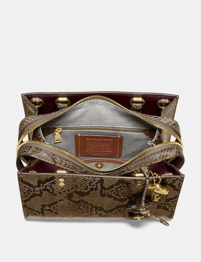 Coach Rogue 25 in Python Brass/Carta Zucchero Women Handbags Shoulder Bags & Hobos Alternate View 2
