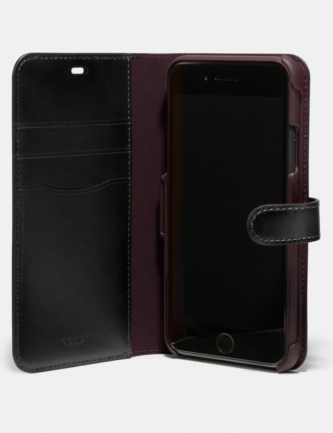 Coach iPhone 11 Pro Max Folio in Signature Canvas Charcoal New Women's New Arrivals Accessories Alternate View 1