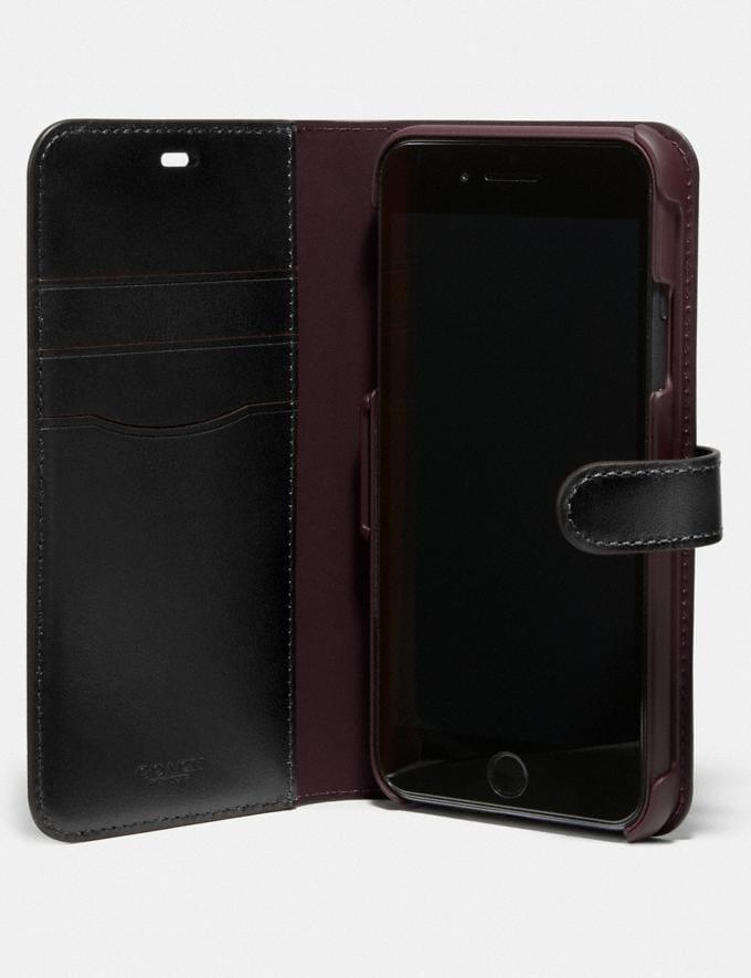 Coach iPhone 11 Pro Max Folio in Signature Canvas Charcoal Women Accessories Tech & Work Alternate View 1