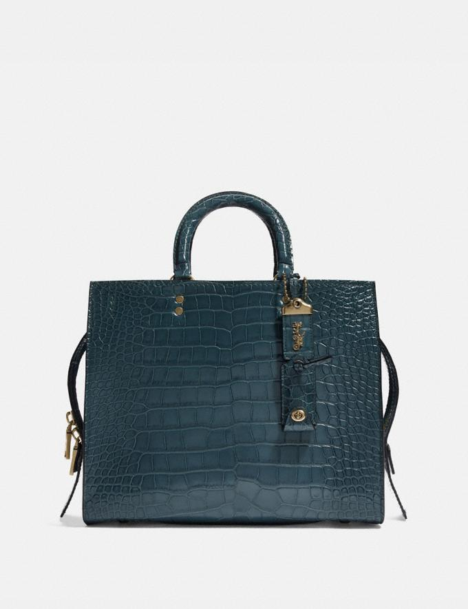 Coach Rogue in Alligator Brass/Blue New Featured Online Exclusives