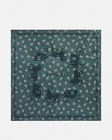 434f4320db9 HORSE AND CARRIAGE SILK SQUARE SCARF ...