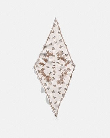 HORSE AND CARRIAGE SILK DIAMOND SCARF