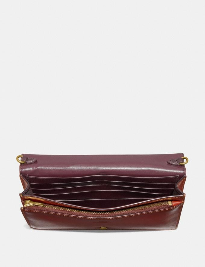 Coach Hayden Foldover Crossbody Clutch in Colorblock Signature Canvas B4/Tan Rust Damen Taschen Umhängetaschen Alternative Ansicht 2