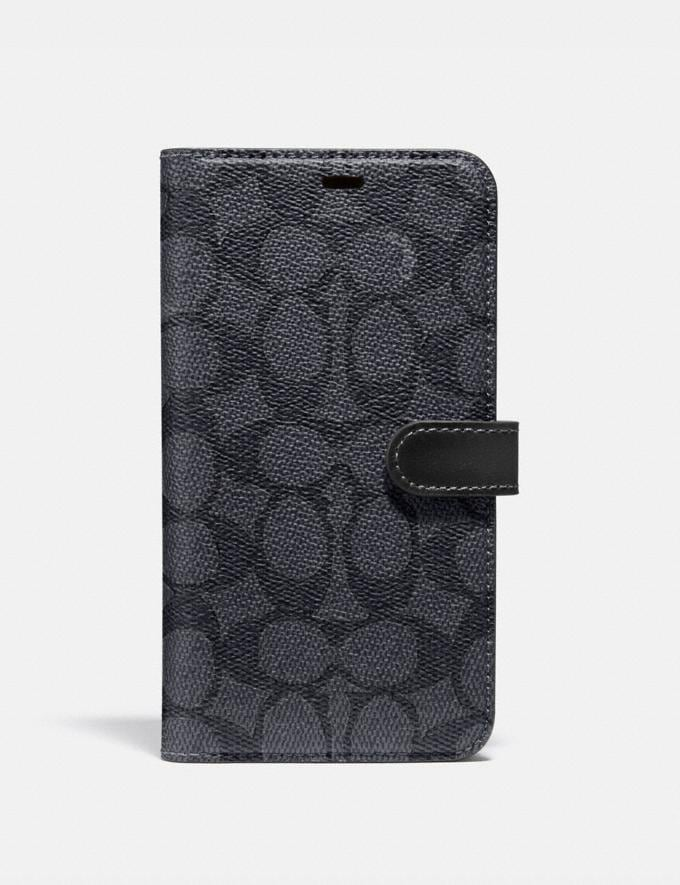 Coach iPhone 11 Pro Folio in Signature Canvas Charcoal Women Accessories Tech & Work