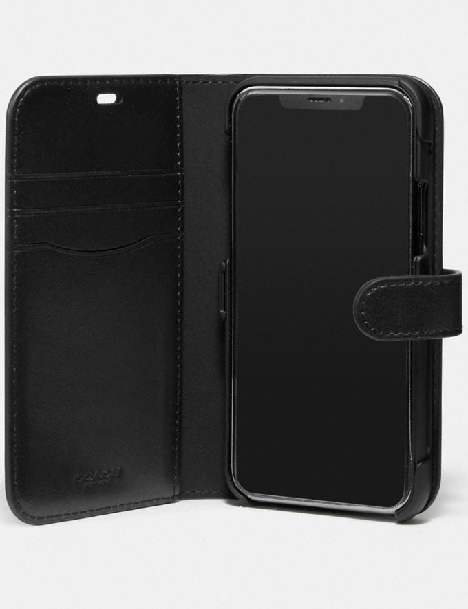 Coach iPhone 11 Pro Folio Black New Women's New Arrivals Accessories Alternate View 1