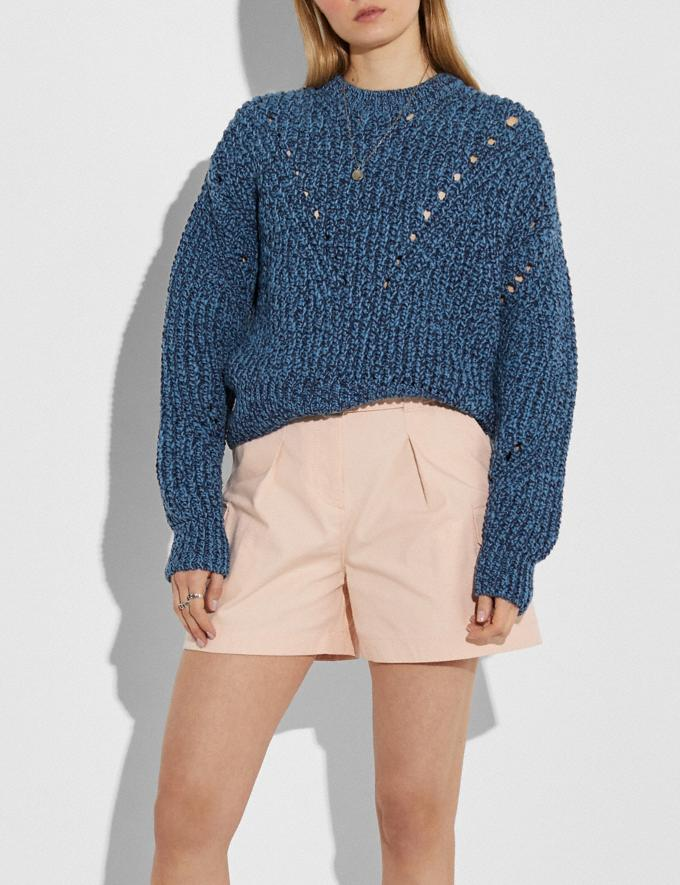 Coach Open Knit Sweater Navy New Women's New Arrivals Ready-to-Wear Alternate View 1