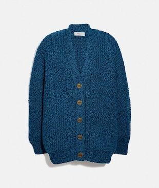 OPEN STRICK-CARDIGAN