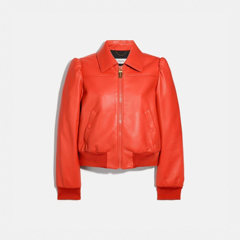 Coach LEATHER BLOUSON JACKET