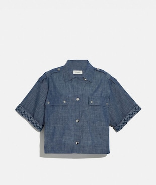 CAMICIA SQUADRATA IN CHAMBRAY