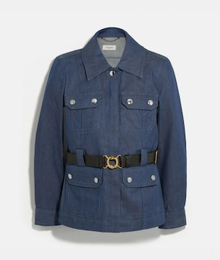 DENIM BELTED HERITAGE JACKET