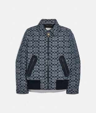 SIGNATURE CHAMBRAY BLOUSON JACKET