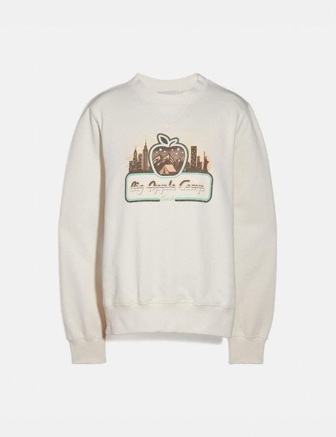 Coach Big Apple Camp New York Classic Crewneck Ivory Women Ready-to-Wear Tops & T-shirts