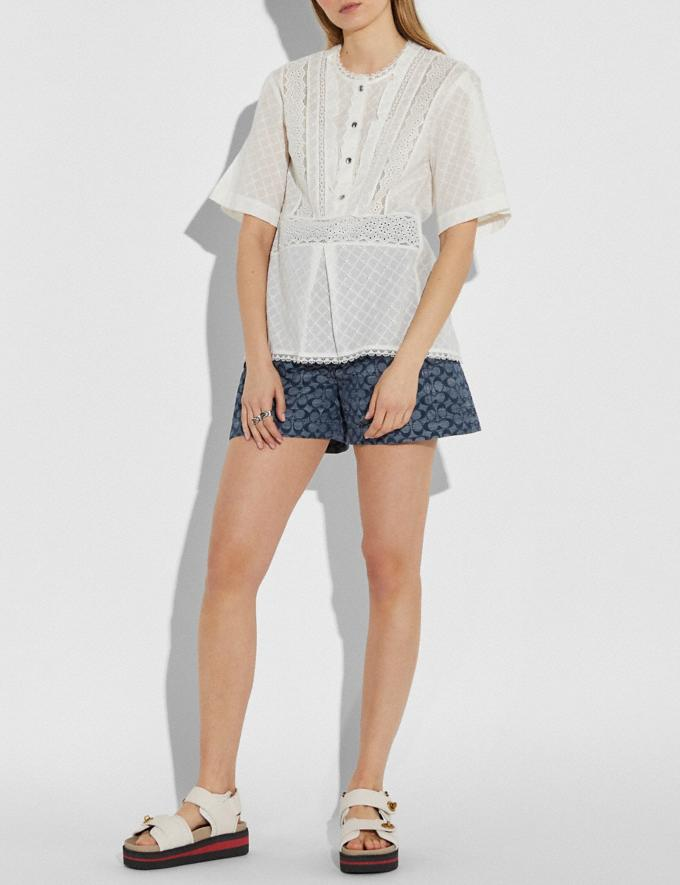 Coach Broderie Anglaise Top Cream New Women's New Arrivals Ready-to-Wear Alternate View 1