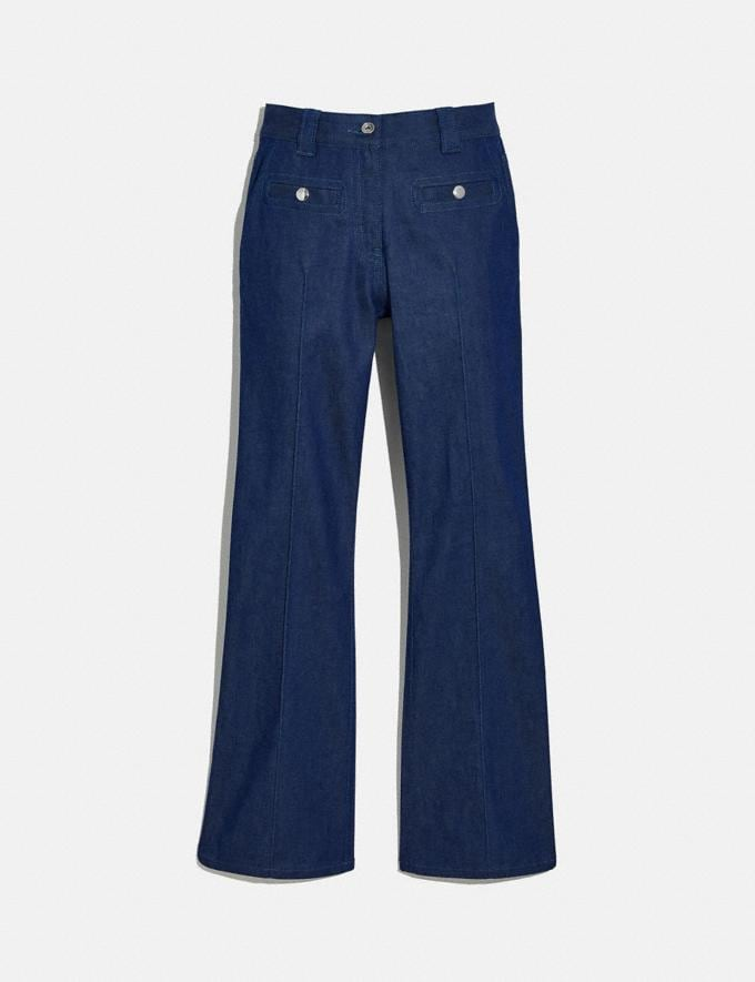 Coach Retro High Rise Jeans Indigo New Women's New Arrivals Ready-to-Wear