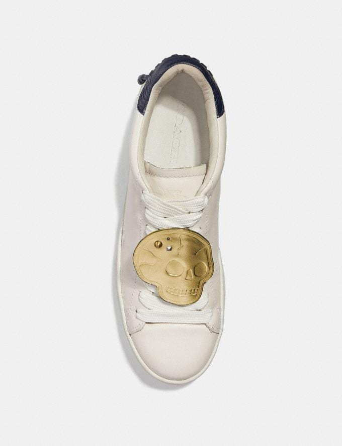 Coach Skull Shoe Patch Gold  Alternate View 1