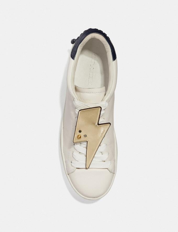 Coach Lightning Bolt Shoe Patch Gold Women Shoes Sneakers Alternate View 1