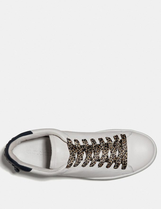 Coach Animal Print Shoe Laces Natural  Alternate View 1