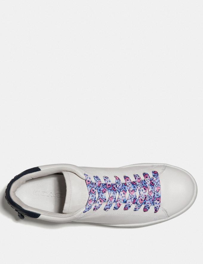 Coach Floral Print Shoe Laces Light Blue Women Shoes Sneakers Alternate View 1