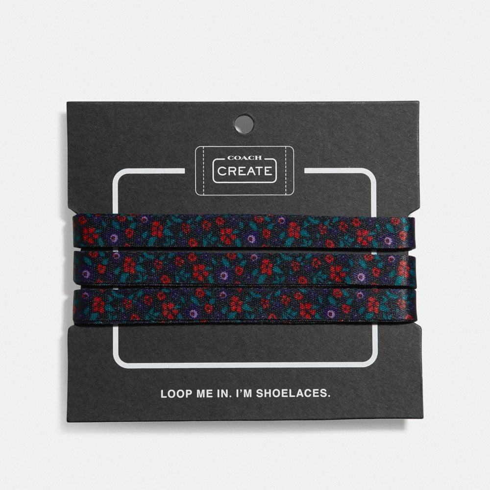floral print shoe laces