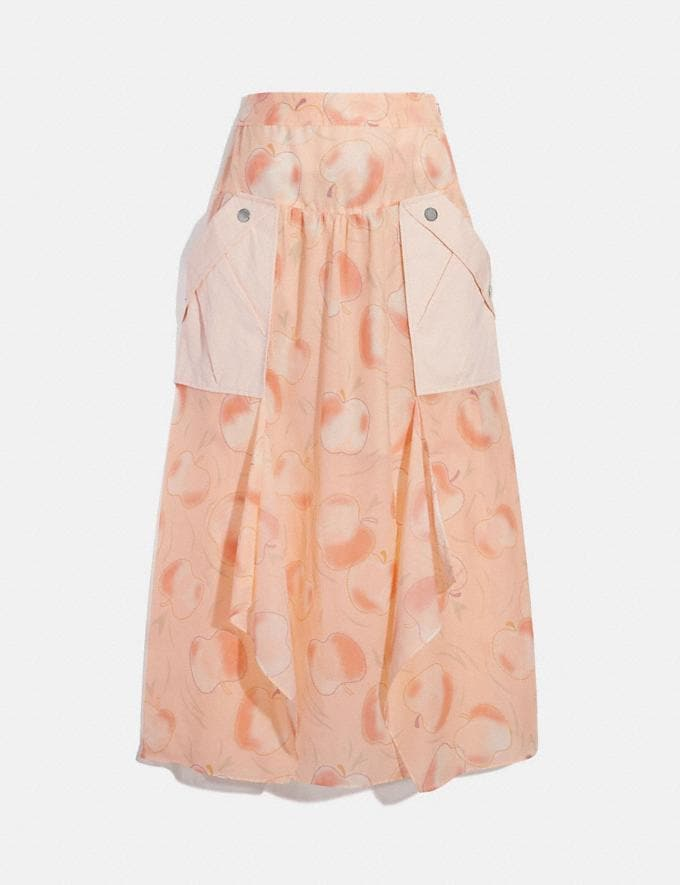 Coach Long Draped Skirt With Pockets Peach Women Ready-to-Wear Bottoms