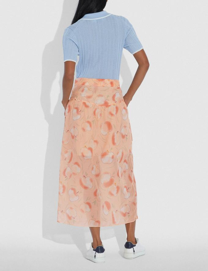 Coach Long Draped Skirt With Pockets Peach Women Ready-to-Wear Bottoms Alternate View 2