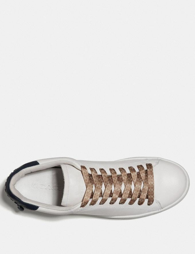 Coach Signature Print Shoe Laces Khaki  Alternate View 1