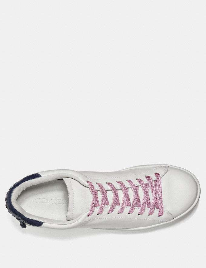 Coach Metallic Shoe Laces Light Pink SALE Women's Sale Accessories Alternate View 1