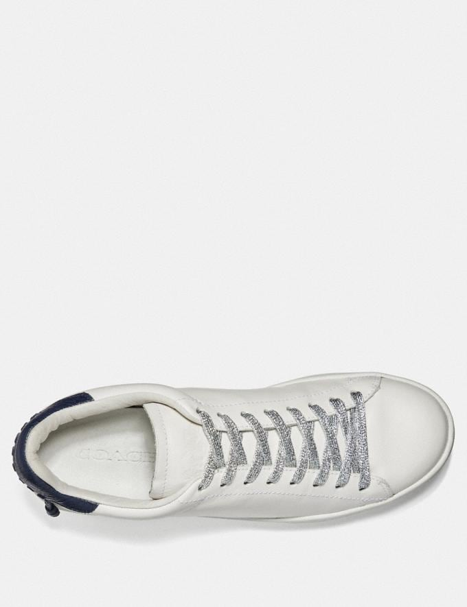 Coach Metallic Shoe Laces Silver  Alternate View 1