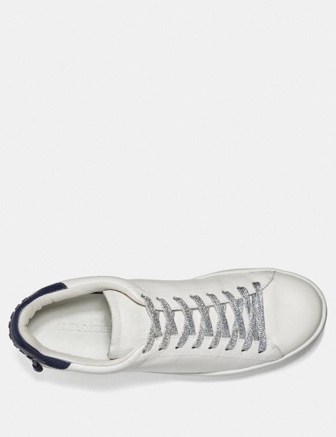 Coach Metallic Shoe Laces Silver Women Shoes Sneakers Alternate View 1