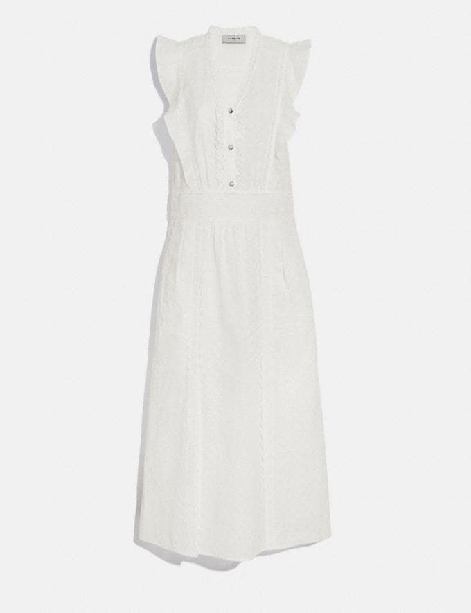 Coach Broderie Anglaise Maxi Dress Cream Women Ready-to-Wear Dresses