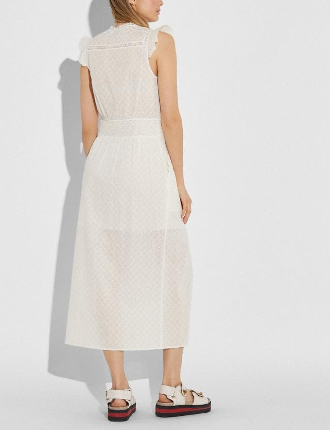 Coach Broderie Anglaise Maxi Dress Cream Women Ready-to-Wear Dresses Alternate View 2