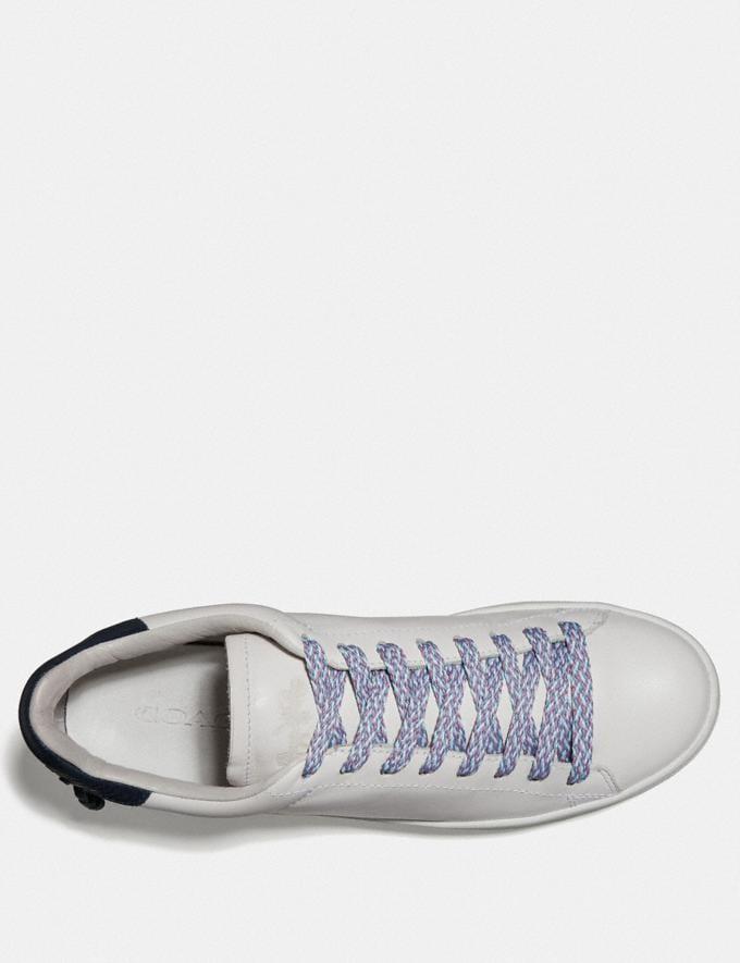 Coach Multi Woven Shoe Laces Light Teal/Light Blue/Chalk Women Shoes Sneakers Alternate View 1