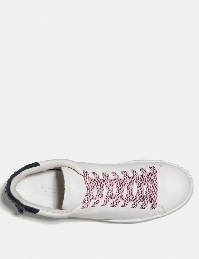 Coach Multi Woven Shoe Laces Dark Berry/Pink/Chalk Women Shoes Sneakers Alternate View 1