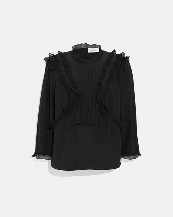 Coach RUFFLE TOP